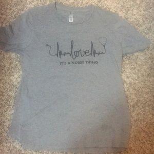 thread tank Tops - Nursing t-shirt in gray